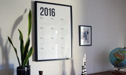 Stor kalender-plakat til søster