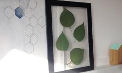 DIY gennemsigtige rammer med blade