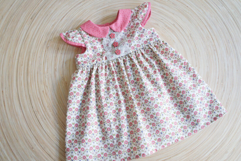 baby kjole mønster gratis