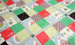 Mix and match patchwork tæppe