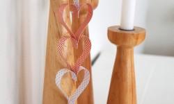 DIY: Hjerteranke af papirstrimler