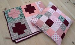 Blomster, pink og patchwork