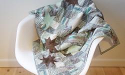 Stjerne patchwork-tæppe