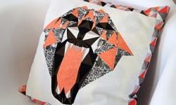 Tiger-pude af genbrug