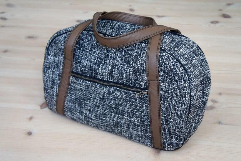 Weekendtaske med læderhanke