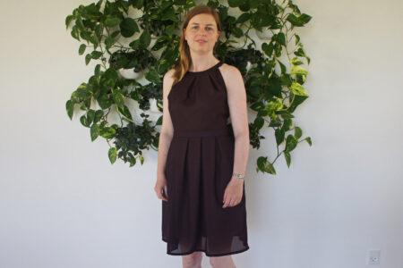 Lilla kjole i chiffon