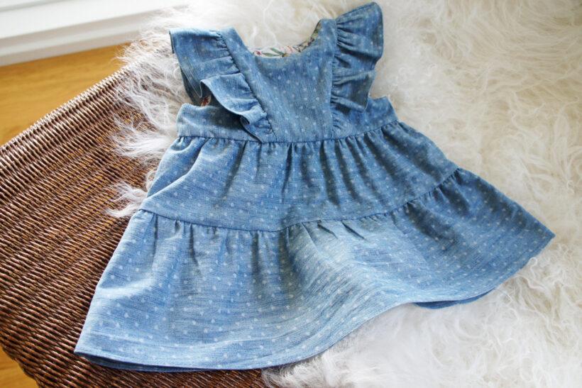 Bay denim kjole med hjerter