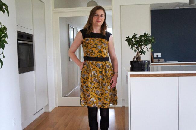 Gul blomstret kjole refashion