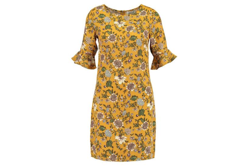 Gul blomstret kjole