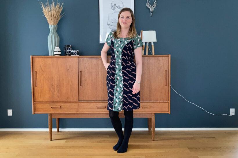 Mønstermix kjole af skjorter