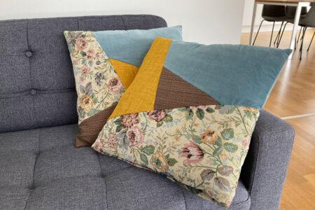 DIY sofapuder i moderne patchwork