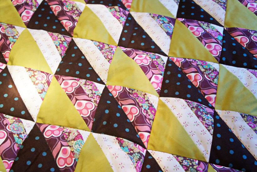 StyleDesignCreate: Lilla og lime babytæppe
