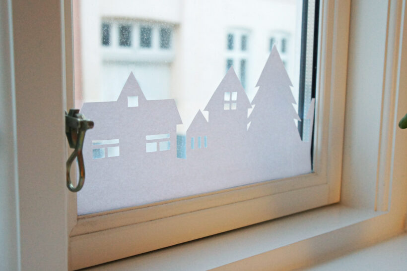 Diy julesilhouette til vinduet