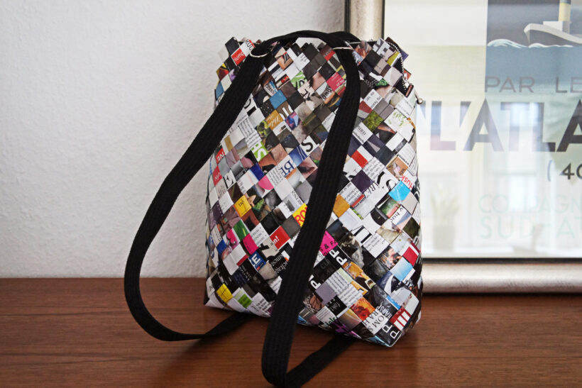 StyleDesignCreate: Flettet papir rygsæk