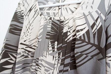 StyleDesignCreate: Grå grafisk kjole