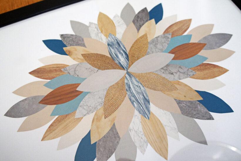 Grafiske collager i papir