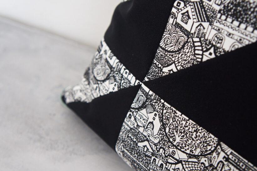 Grafiske sort hvide puder