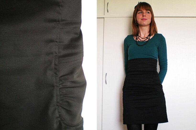 Højtaljet sort kasia nederdel