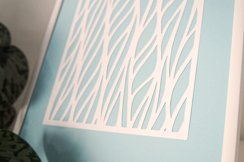 Hvidt grafisk papirklip