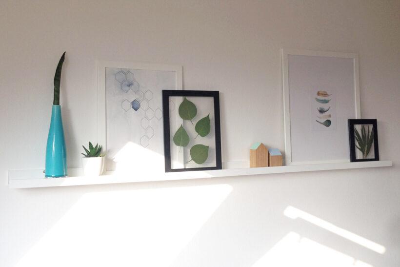 DIY gennemsigtig billedramme med botanik