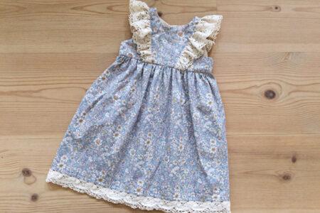 Lyseblå babykjole
