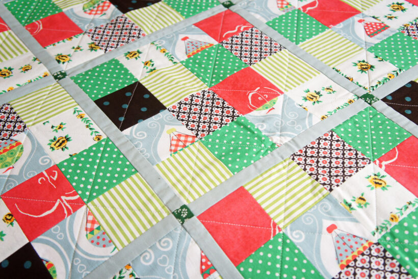 StyleDesignCreate: Mix and match quiltet patchworktæppe