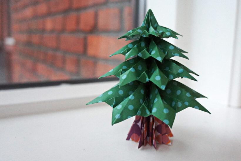 StyleDesignCreate: Origami juletræ