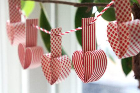 DIY: Julehjerter på guirlande