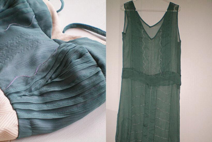 petroleumsblå kjole