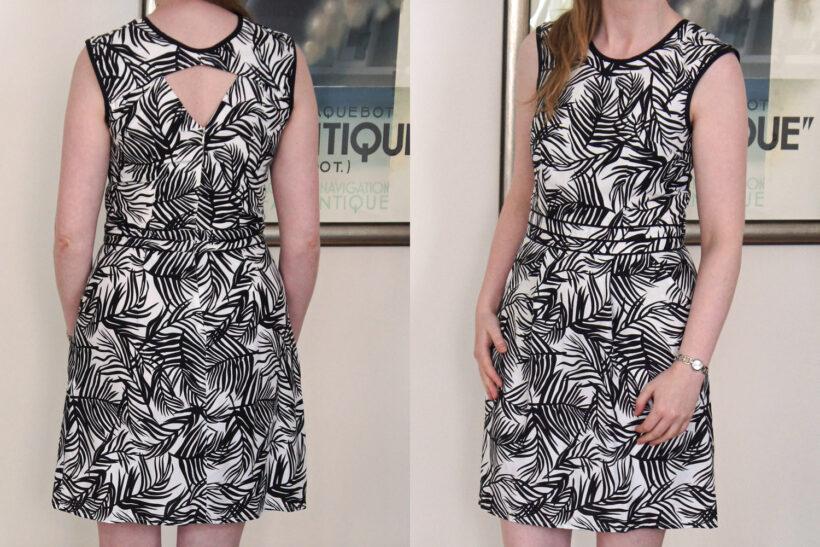 Sort og hvis grafisk Belladone kjole