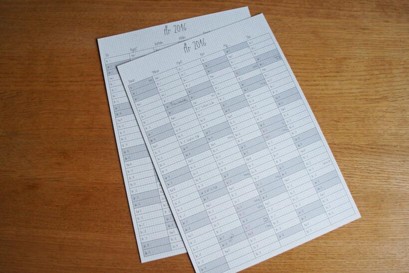 gratis ternet 2016 kalender print