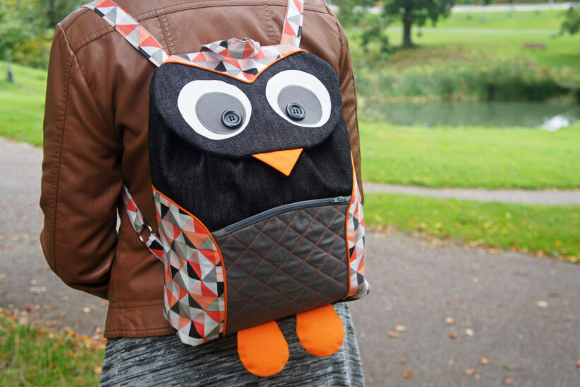 Uglerygsæk / owl backpack